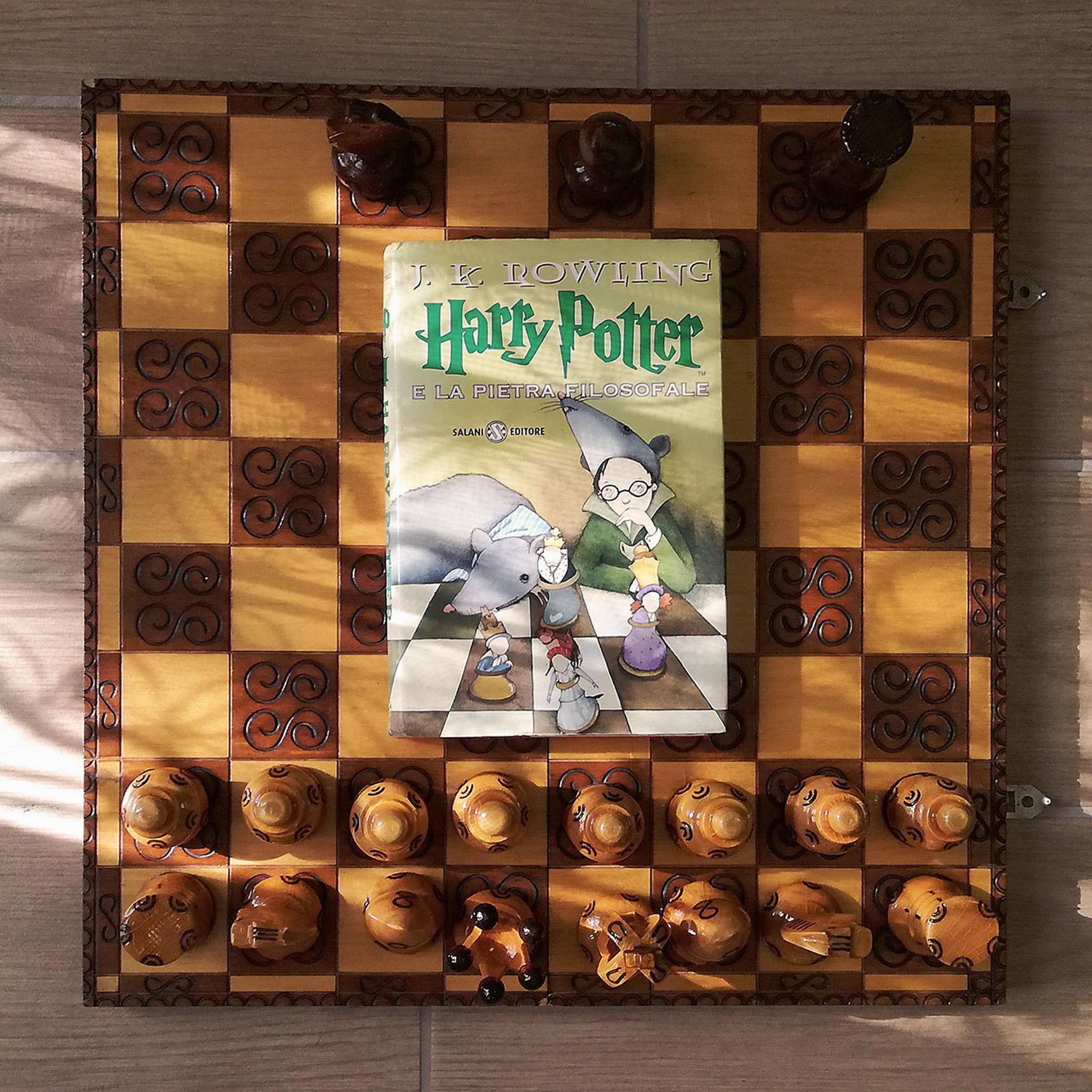 Harry Potter libro scacchiera